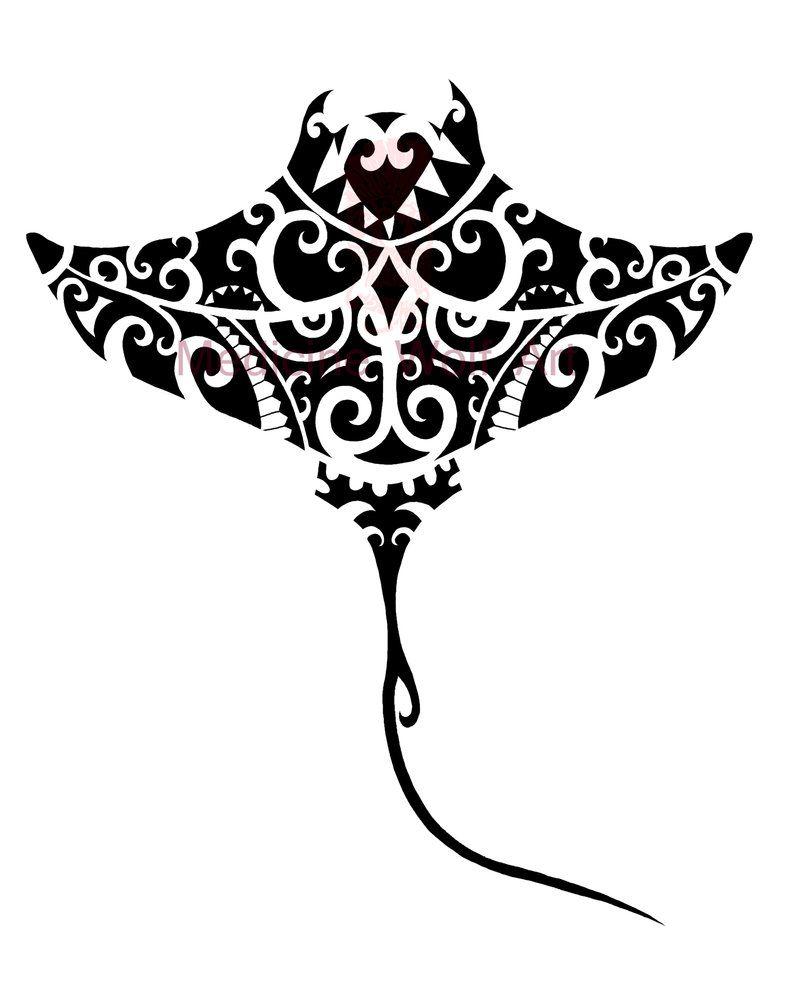 Tribal Stingray By Medicinewolf Tattoos Pinterest