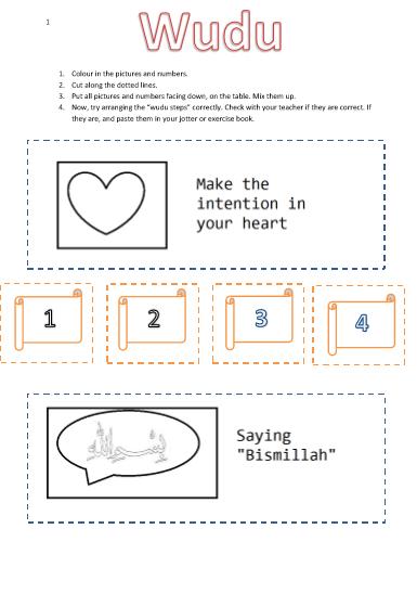 Islamic Worksheet For Kindergarten