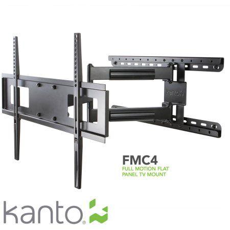 Kanto Full Motion Wall Mount For 30 To 60 Tvs Black Walmart Com Full Motion Tv Wall Mount Flat Panel Tv Tv Wall