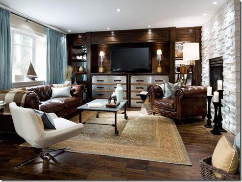 Decorating around Brown Leather Furnituregrey sofa as