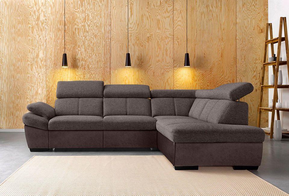 exxpo by Gala Polsterecke mit Ottomane, wahlweise mit Bettfunktion - wohnzimmer beige petrol