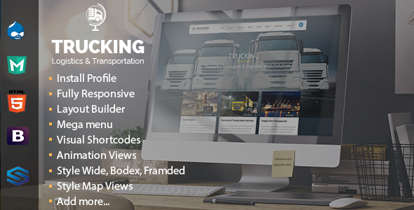 Download Free Trucking - Transportation & Logistics Drupal Theme ...