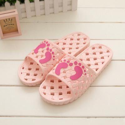 Fashionable Foot Printed Bathroom Slippers