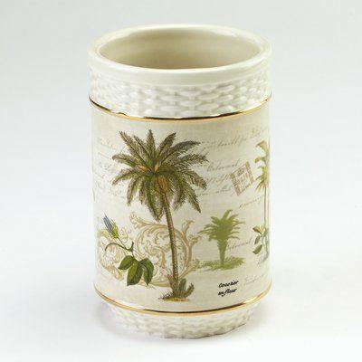 Avanti Linens Colony Palm Tumbler