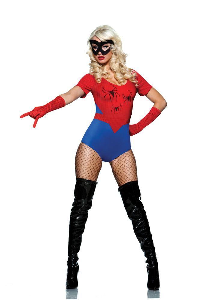 spider woman costume web spider woman costume sexy halloween heroes fancy dress costumes - Spider Girl Halloween Costumes