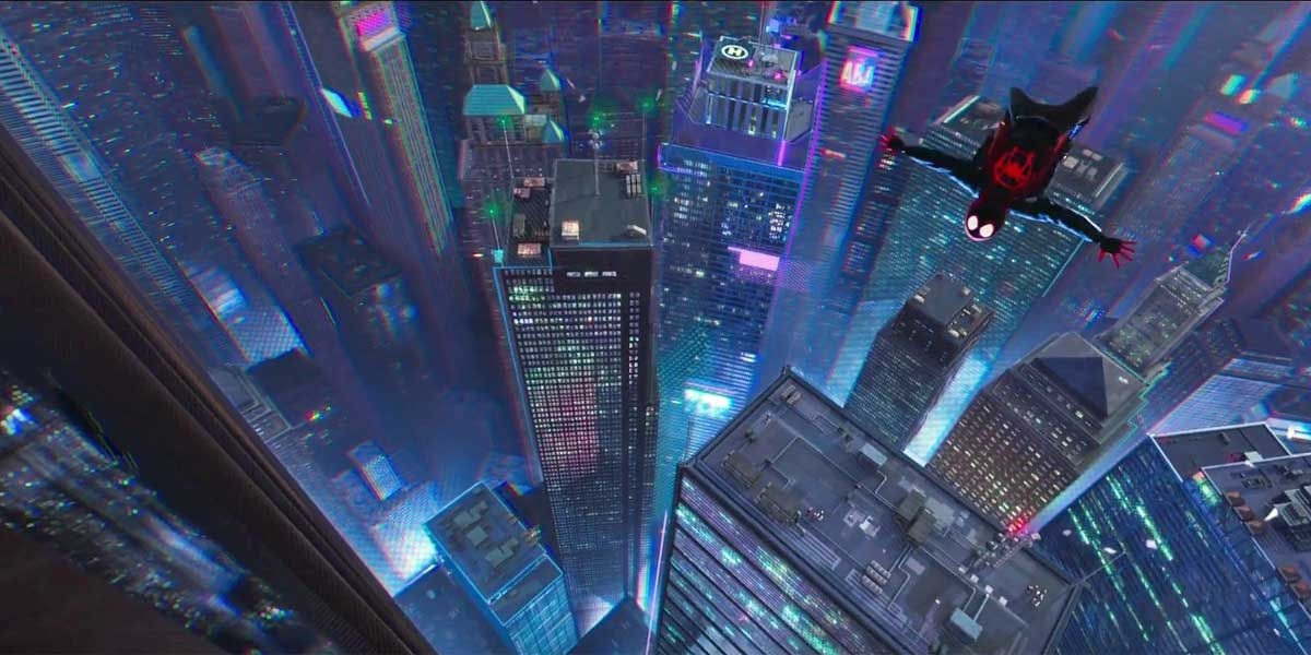 Spiderman Into The Spiderverse Animated Trailer Images Spider Verse Spiderman Leap Of Faith