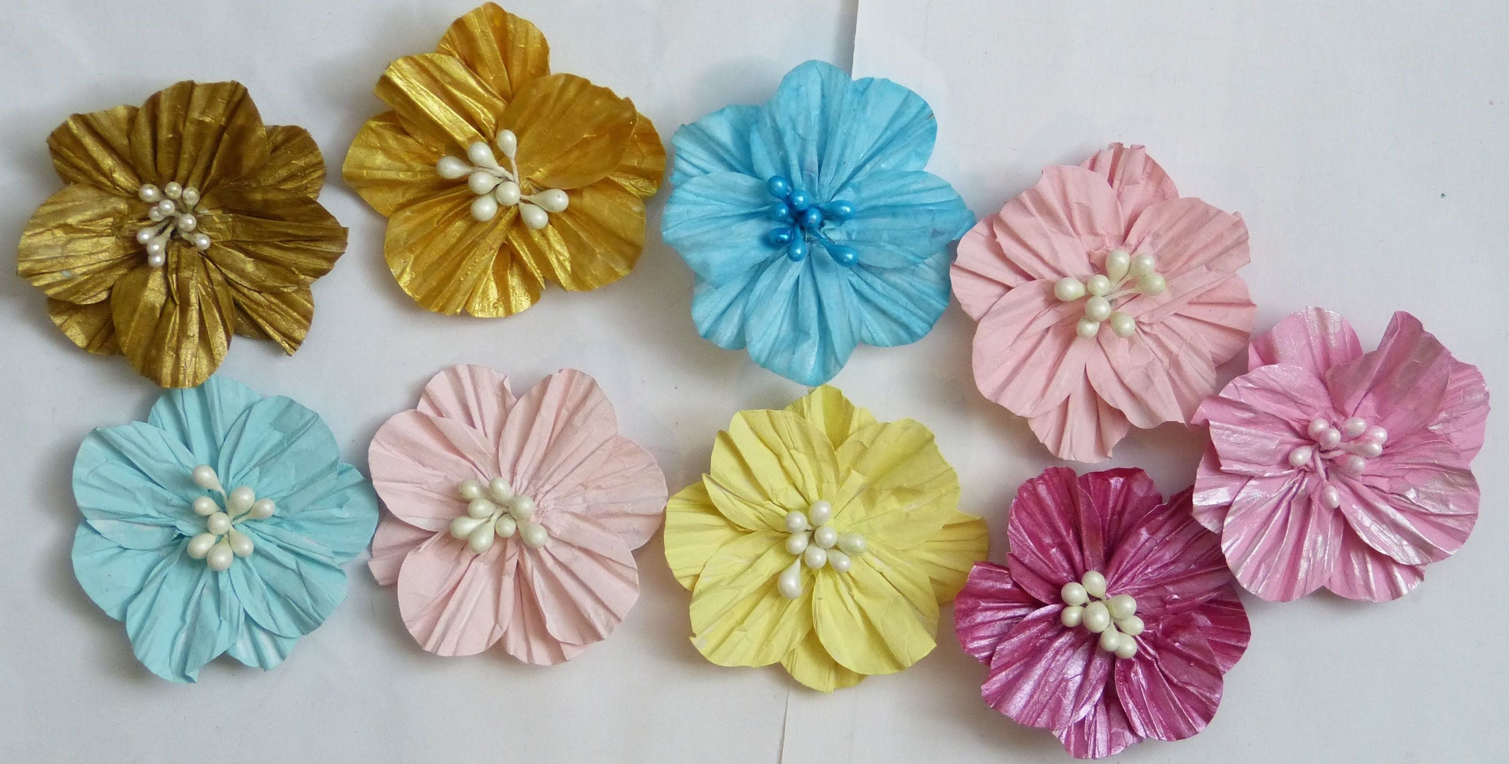 How to use circle shape into making paper flowers | lovey homemade ... for How To Make Handmade Flowers From Paper And Fabric  55jwn