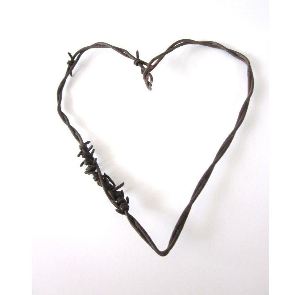 Barbed Wire Heart -The Mended Heart - Old Rusty Cowboy rustic ...