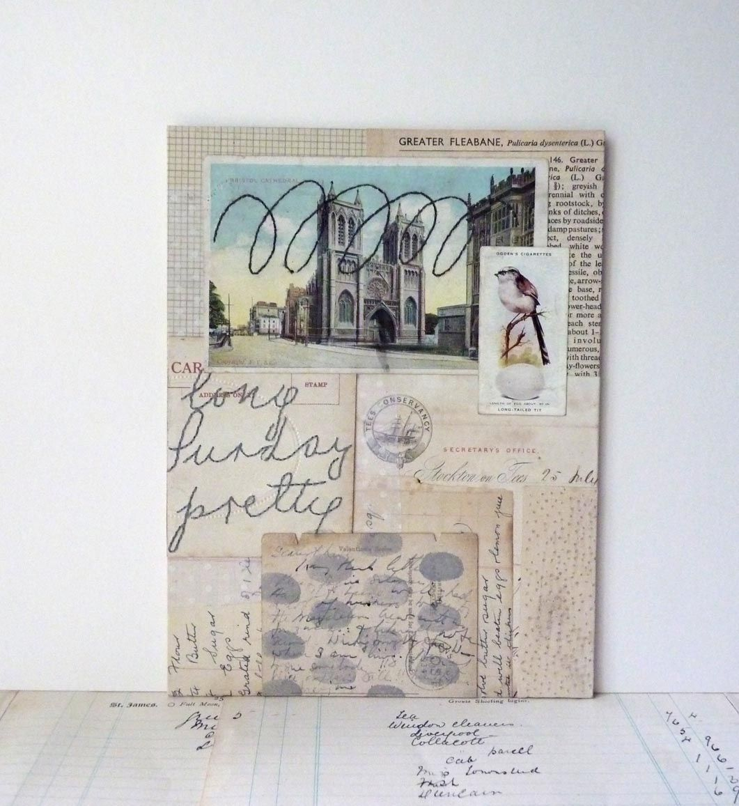 cathedral | mixed media collage | by Clare Hillerby