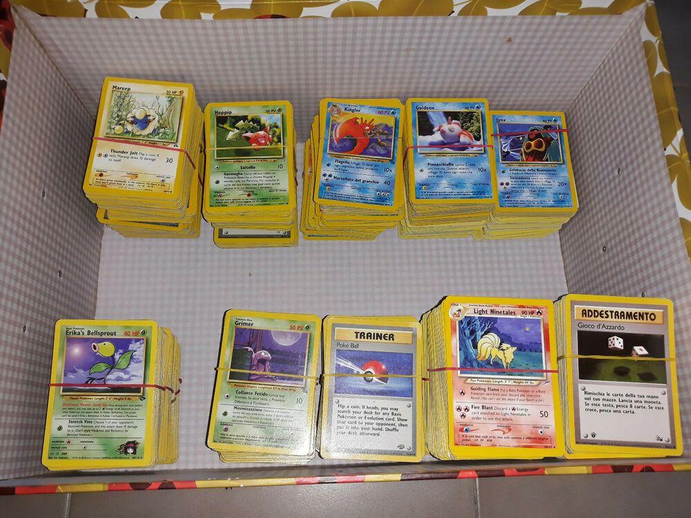 Lotto 50 carte pokemon set base jungle fossil rocket