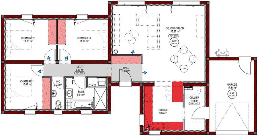 Parfait Plan Maison Moderne Avec Etage And La revue  House plans