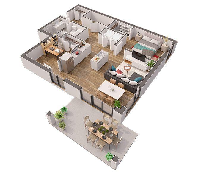 Maison - Maison Bois - 3 Chambres plus suite parentale - Maisons - faire un plan d appartement en ligne