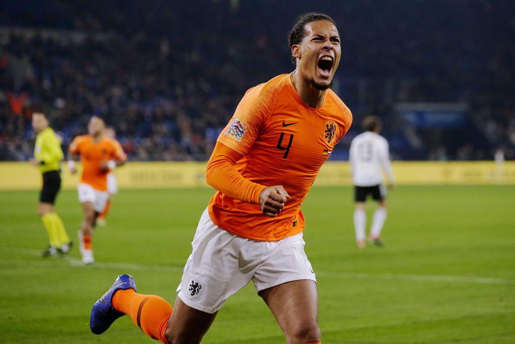 Virgil van Dijk of Holland celebrates 2-2 during the UEFA Nations ...