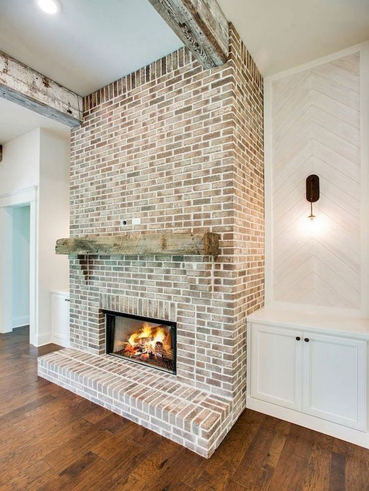 Modern brick fireplace decorations ideas for living room
