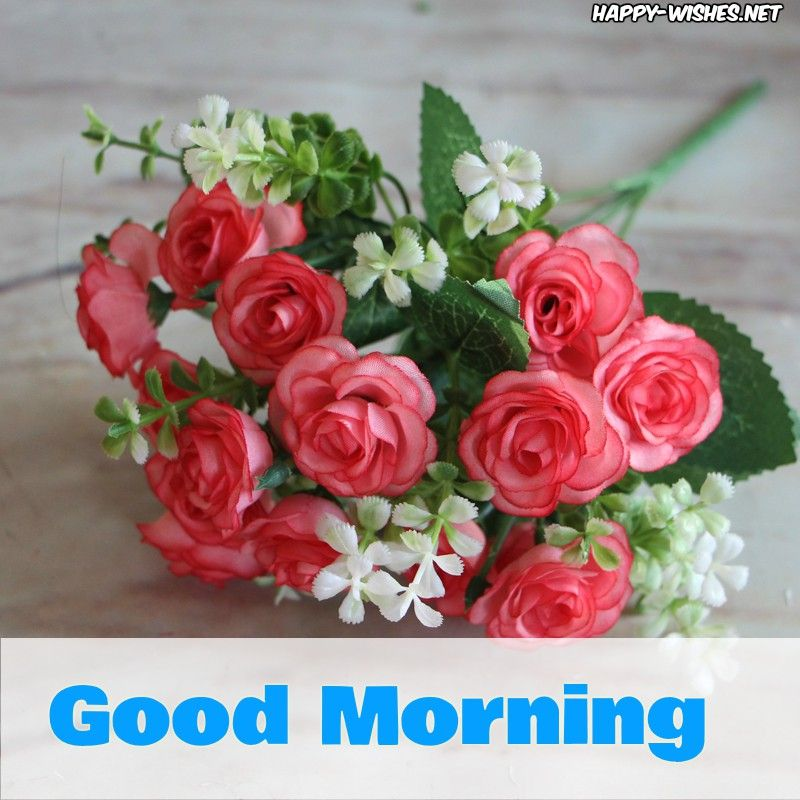 Good Morning Wishes With Small Red Rose Pictures Artificial Silk Flowers Diy Bridal Bouquet Beautiful Bouquet Of Flowers