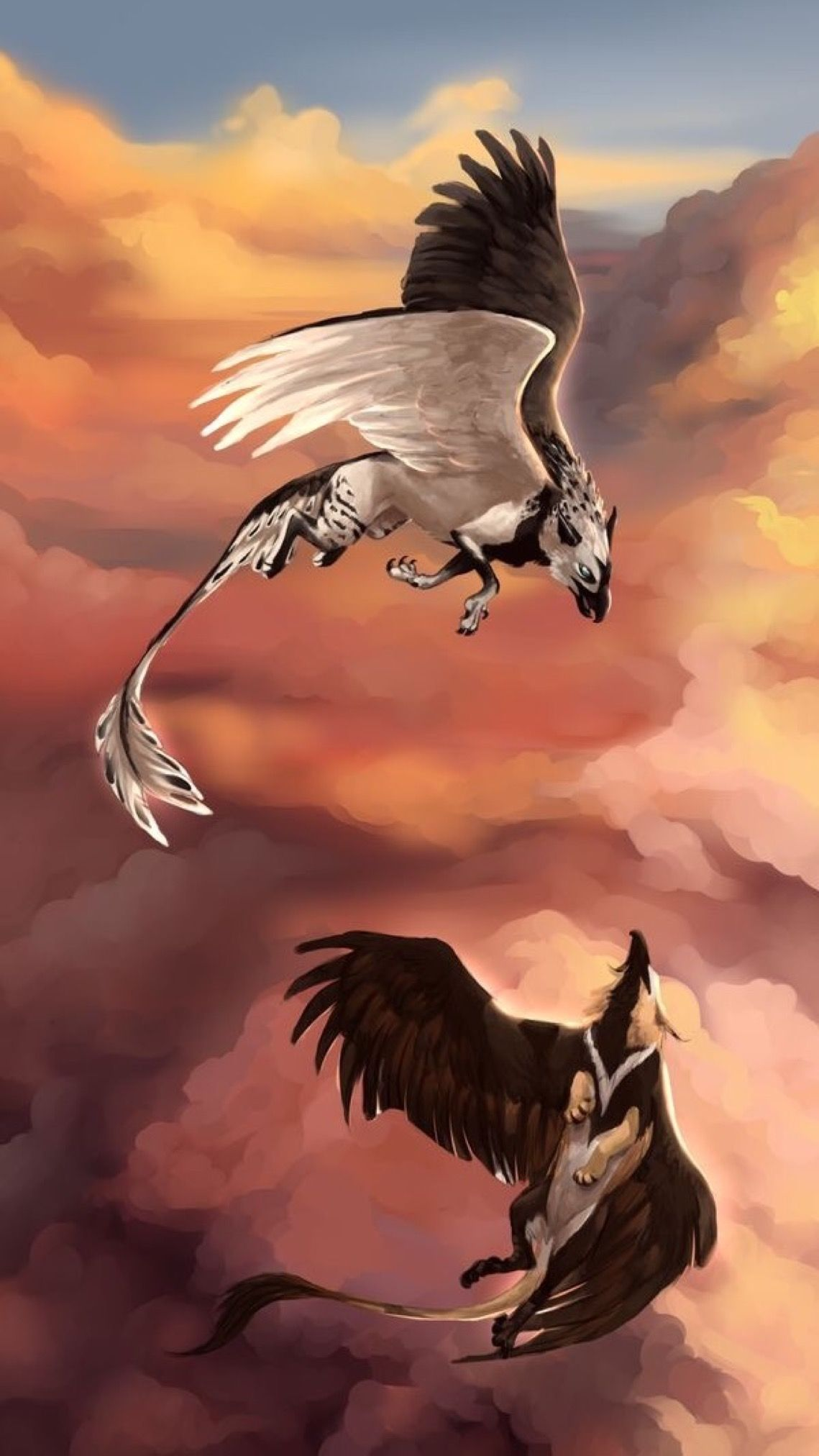 Pin By Wallpapers Phone Pad Hd On 9 16 Phone Mythical Creatures Art Mythical Creatures Mystical Animals