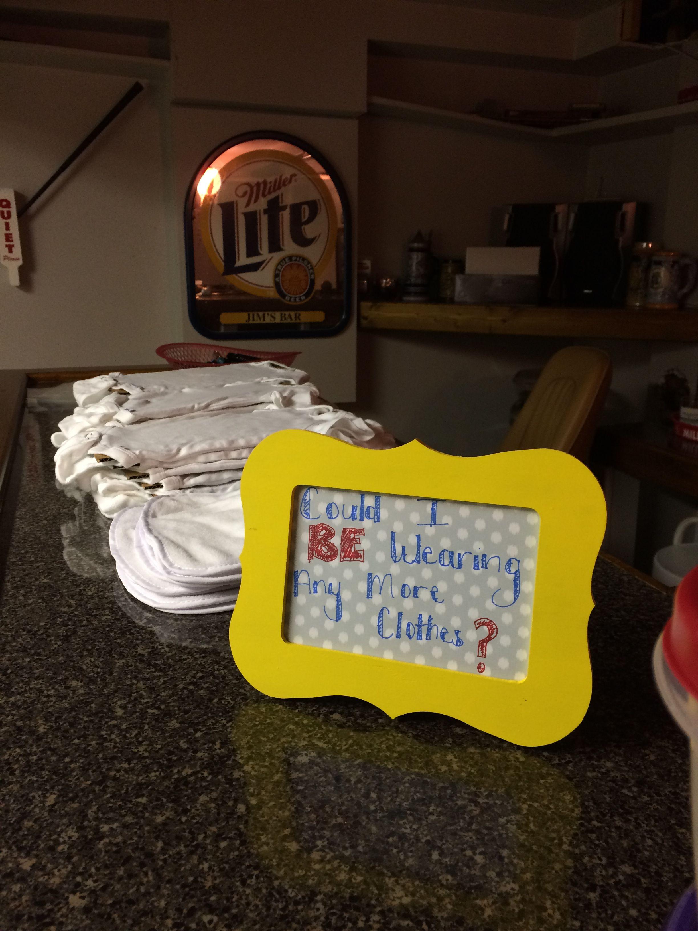Friends theme baby shower games-onesie decorating   Onesie ...
