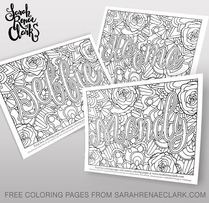 Free name coloring pages Debbie Mandy and Karma Coloring Name coloring pages Free