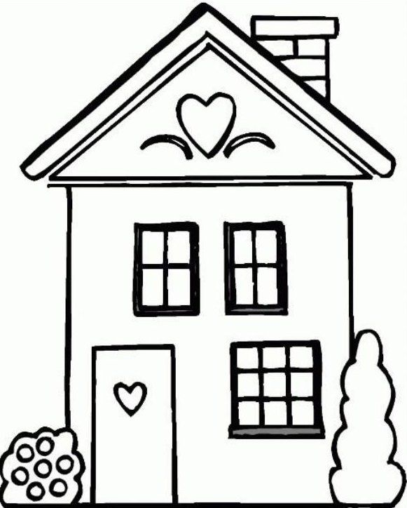 Gambar Untuk Mewarnai Rumah : gambar, untuk, mewarnai, rumah, Mewarnai, Gambar, Rumah, Cinta, Warna,, Gambar,