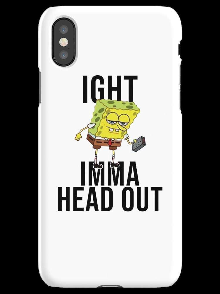 SpongeBob Meme: Ight Imma gehen heraus iPhone X Schnellfall voran