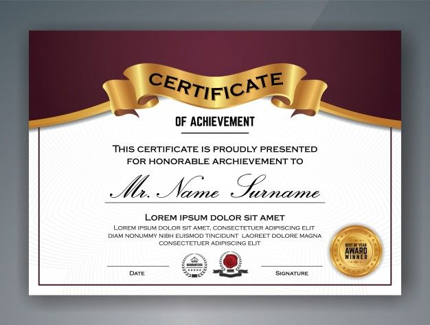 Professional Certificate Template from i.pinimg.com