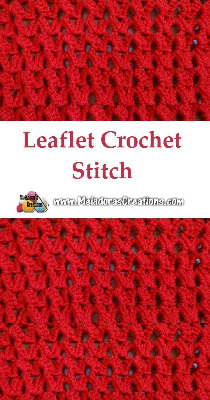 Leaflet crochet stitch | Crochet | Pinterest