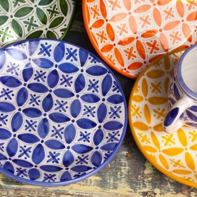 Fair Trade Fez Hand Painted Side Plates from Sobremesa  sc 1 st  Pinterest & Fair Trade Fez Hand Painted Side Plates from Sobremesa | Dine ...