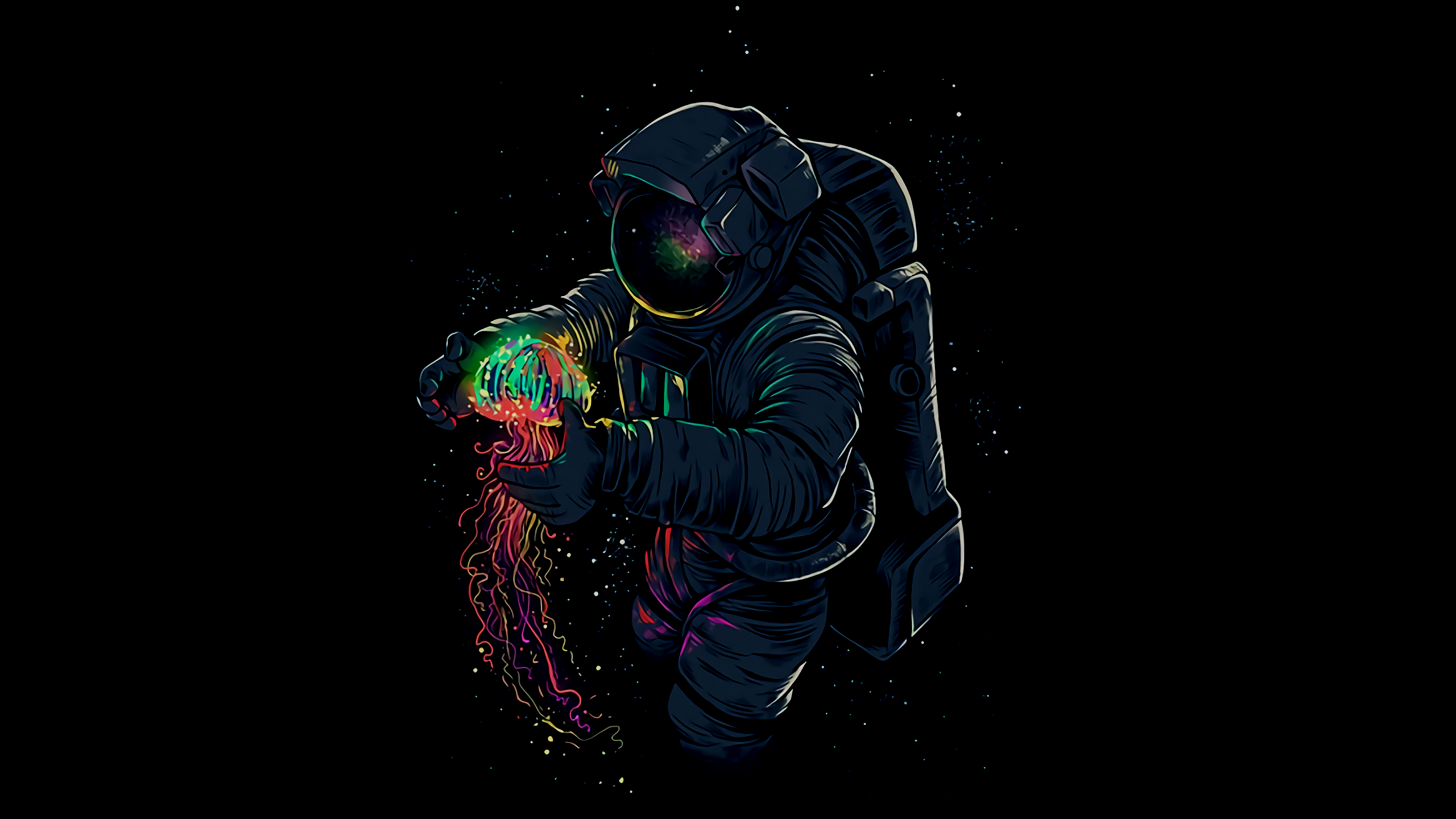 Cartoon Astronaut [2560 x 1440]