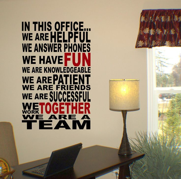 Pin By Its A Krazy Life On Quotes Pinterest Office Wall - Vinyl wall decals for office