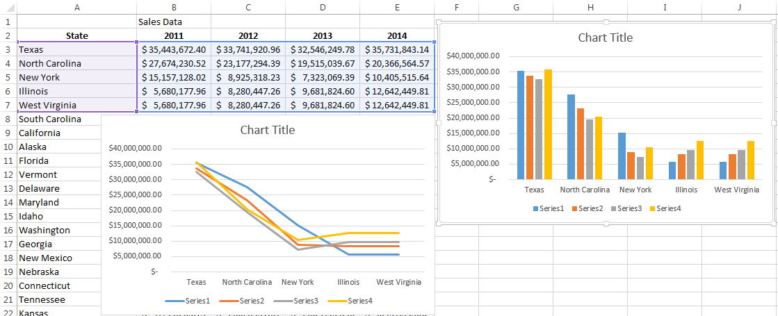 How To Create A Line Chart In Excel With Multiple Lines In 2020 Create Graph Line Graphs Chart