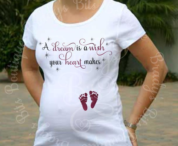 88e73932c53cd A Dream Is A Wish Your Heart Makes Maternity Shirt   Maternity ...