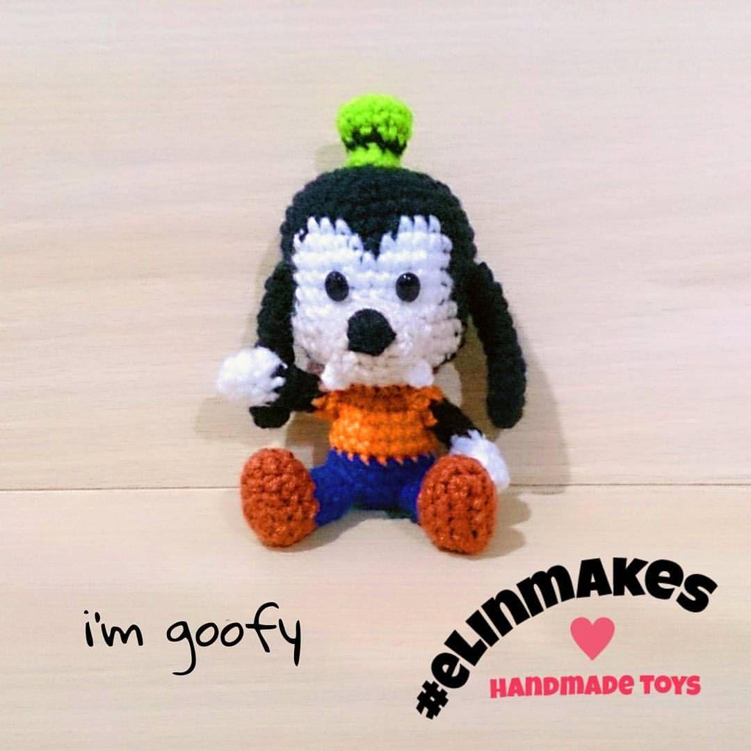 "Goofy says ""Happy Weekend"" #amigurumi #crochet #elinmakes ..."