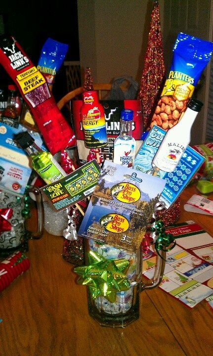 Homemade Christmas Gift Baskets Ideas Part - 16: U003c3 Christmas Gift For Dad! Fun And Easy To Make! Beer Mug,