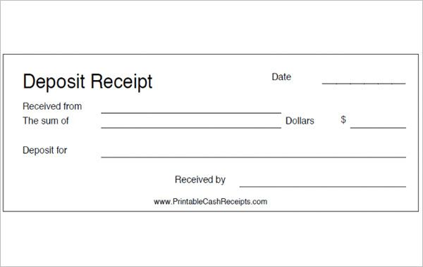 11+ Deposit Receipt Templates | Receipt template, Words ...