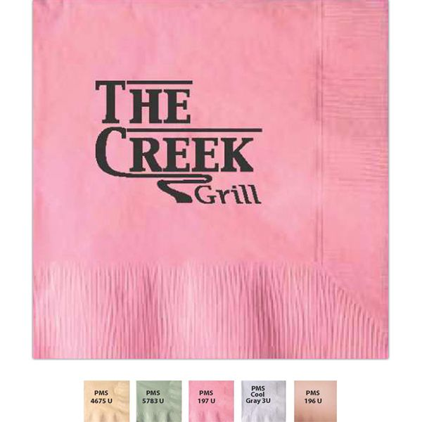With every beverage or plate of food, your name will be on someone s lips with our beverage napkins! 2-ply beverage napkin in light tone colors. Coin edge embossed napkins. Whether your entertaining guests at a company dinner or using this napkin to advertise a new restaurant, bar, or promotion we have what you are looking for.