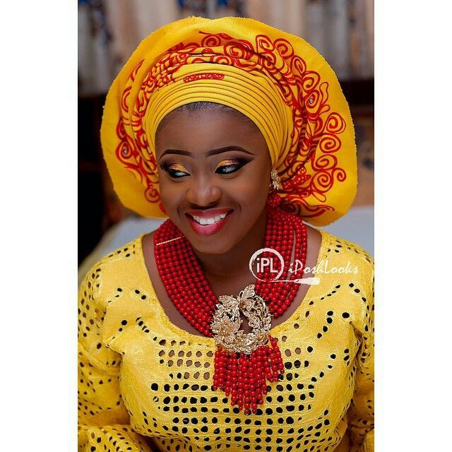 Yelllow + Red Aso-oke