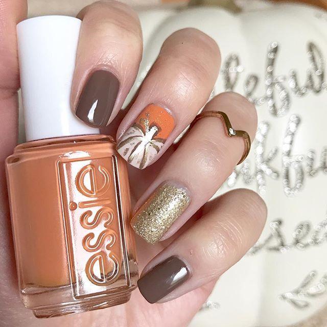Vintage Kürbis Mani inspiriert von @funkifiednails und @wicked_w_nails ✨ Ich denke …   – Nails