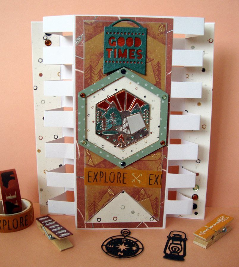 tower panel card  cards craft inspiration card craft