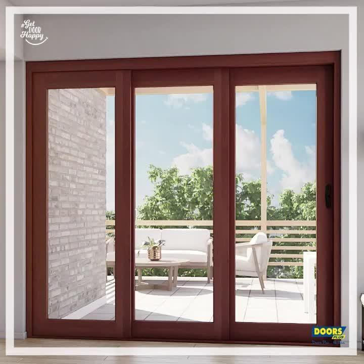 Beautiful Outdoor Panoramic exterior Stacking door