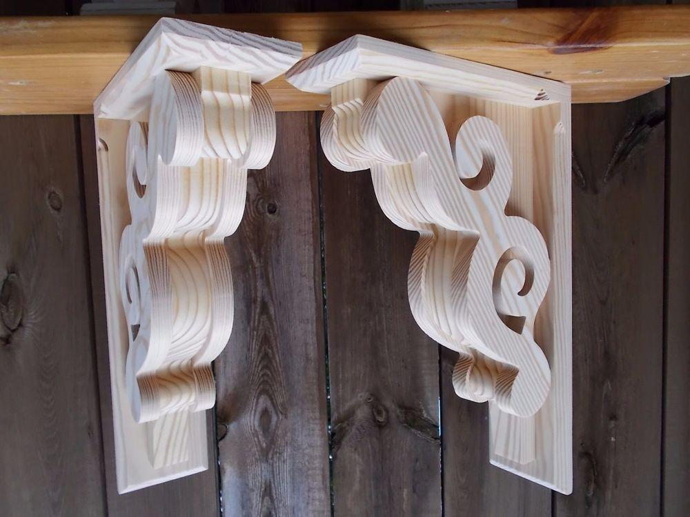 Victorian Design Wood Corbel Shelf Mantle Bracket 11 X 17 X 4 6111d Wood Corbels Diy Wood Corbels Old Door Decor