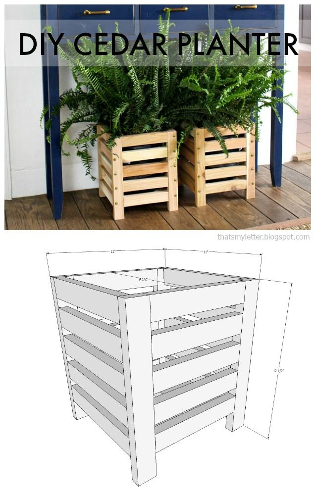 Photo of DIY Cedar Scrap Wood Planter – Jaime Costiglio