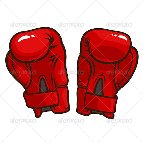 Red Boxing Gloves Vector Image Free | Free Vectors | Pinterest ...