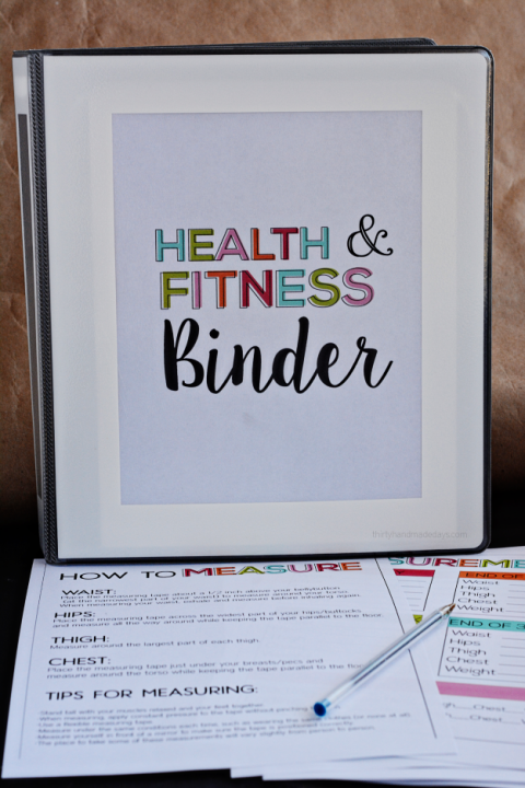 #printables #printable #handmade #fitness #journey #health #binder #thirty #print #help #your #over...