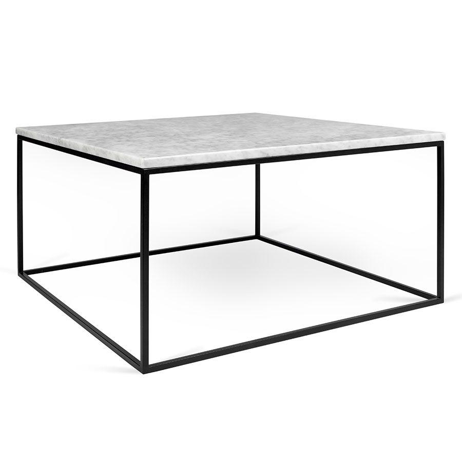 Gleam Marble Coffee Table White Black Coffee Table White