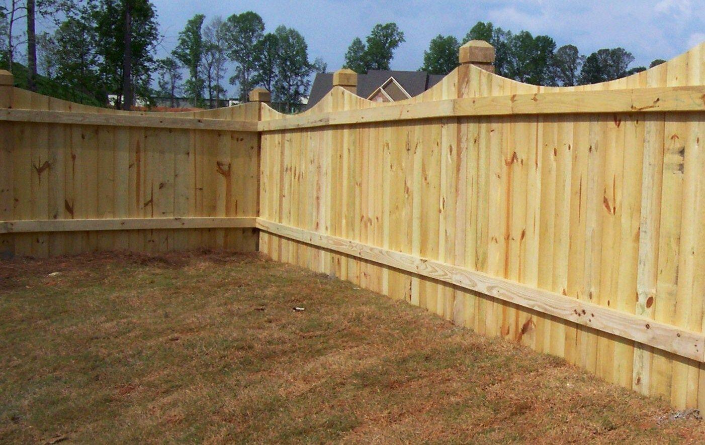 Saddle Cut Wood Fence Design Mossy Oak Fence Company