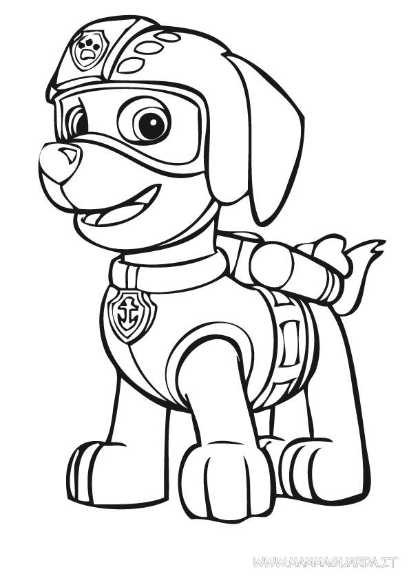 Paw Patrol Zuma Coloring Pages Bitty Baby Octopi Ideas