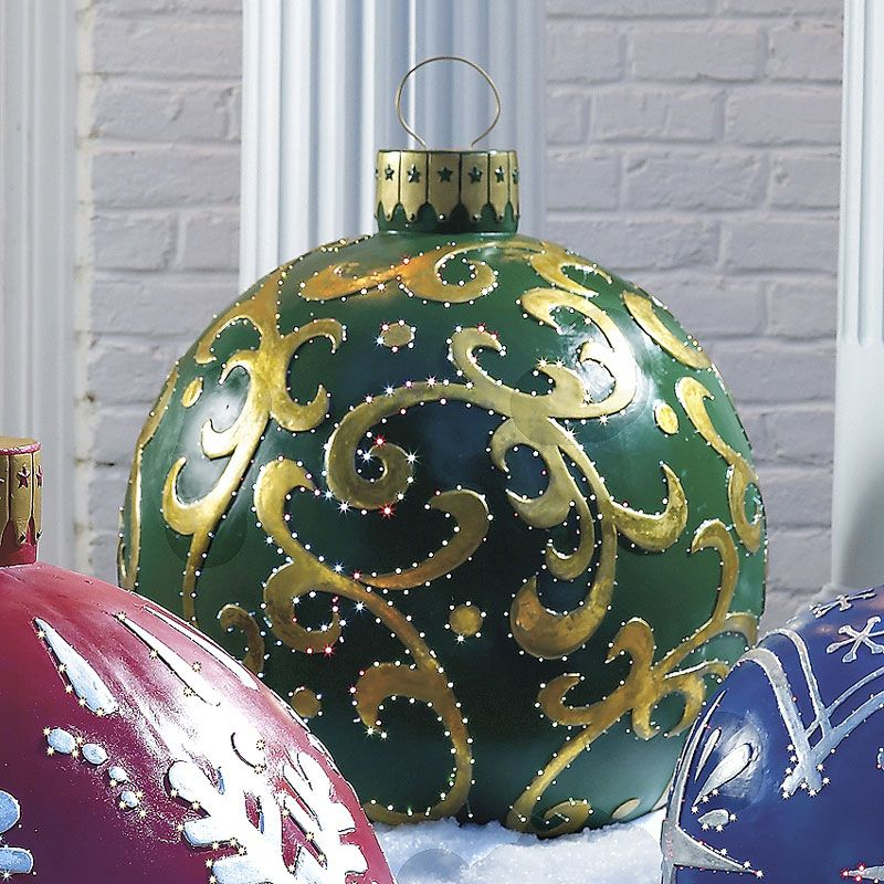 Massive outdoor lighted christmas ornaments christmas ornament massive outdoor lighted christmas ornaments the green head aloadofball Choice Image