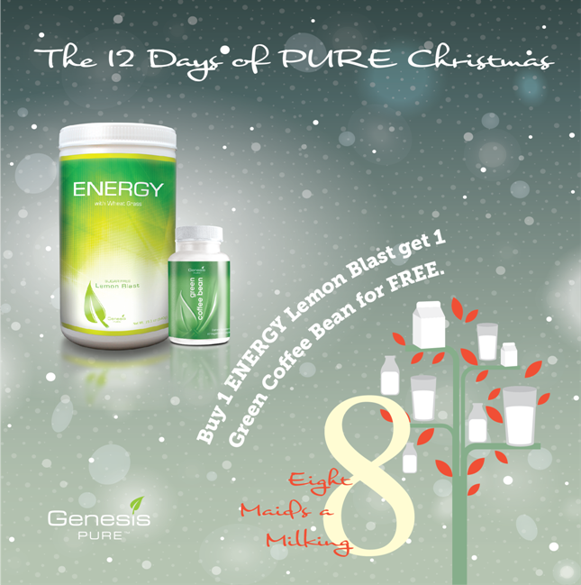 On The 8th Day Of PURE Christmas…get A FREE Green Coffee