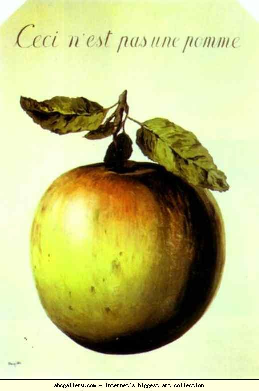 rené magritte.....this is not an apple