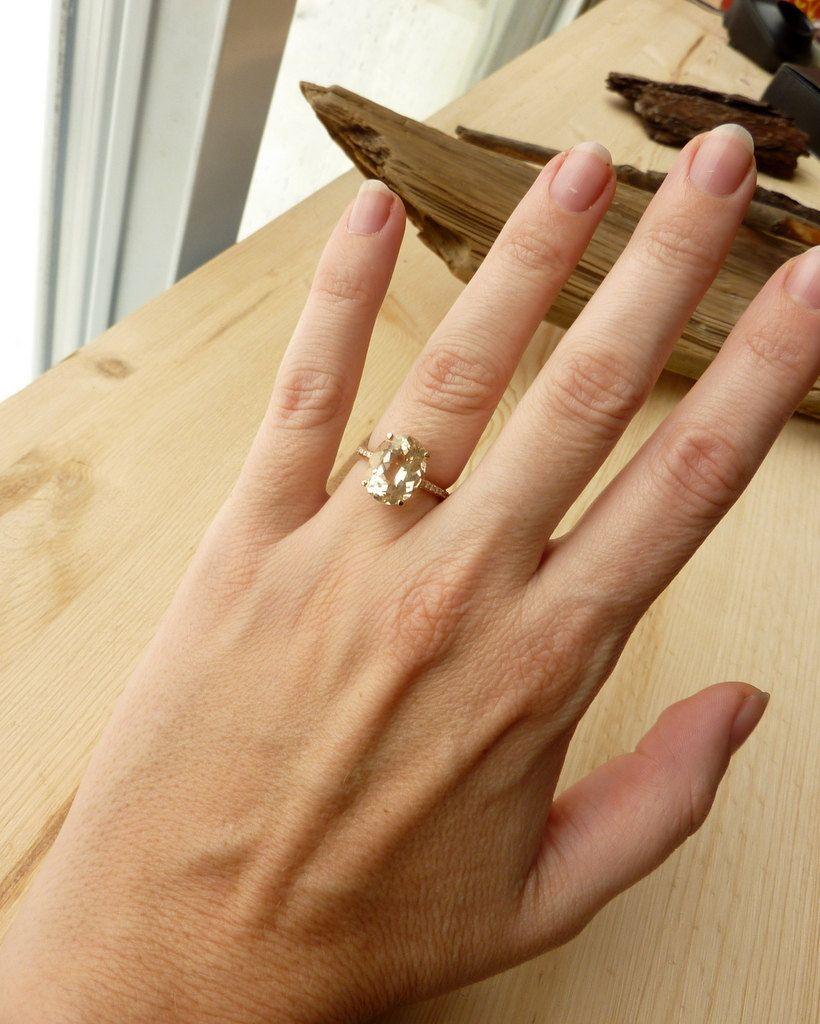 Oregon Sunstone and Diamond Ring 229500 via Etsy Rings n